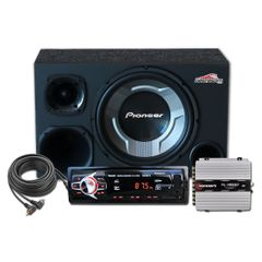 CAIXA-SOM-TRIO-SUBWOOFER-PIONEER-12----DRIVER-E-TWEETER---Cabo---Radio-USB-SD-MP3-Bluetooth