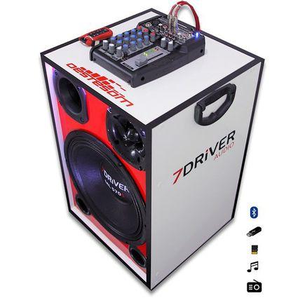Caixa-Trio-Ativa-7Driver---Modulo-Taramps---Mesa-Automotiva-Stetsom--Amplificada-