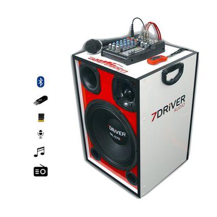 Caixa-Trio-Ativa-7Driver-Taramps---Mesa-Automotiva-Stetsom---Microfone-3mts-fio-Amplificada-