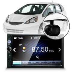 Central-Multimidia-Mp5-Honda-Fit-Cam-Bluetooth-Espelhamento-Android