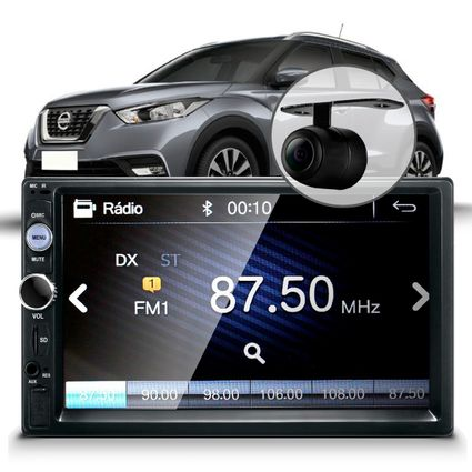 Central-Multimidia-Mp5-Nissan-Kicks-Black-Camera-Espelhamento