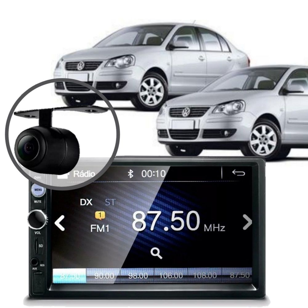 Central-Multimidia-Mp5-Polo-Hatch-2005-Camera-Bluetooth-Espelha