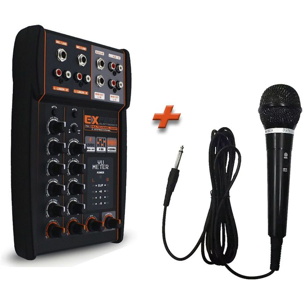 Mesa-Automotiva-Eletronic-Mx-1---Microfone-Mxt-3-Metros-Cabo