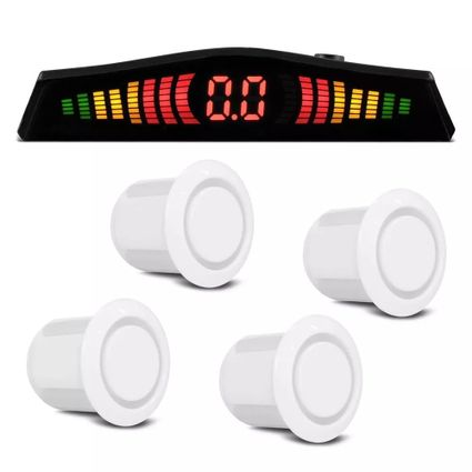 Sensor-Estacionamento-4-Pontos-Branco-Display-Led-Colorido