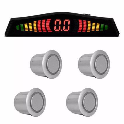 Sensor-Estacionamento-4-Pontos-Prata-Display-Led-Colorido
