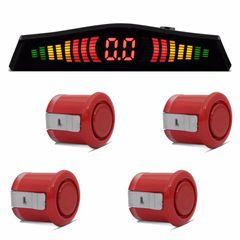 Sensor-Estacionamento-4-Pontos-Vermelho-Display-Led-Colorido