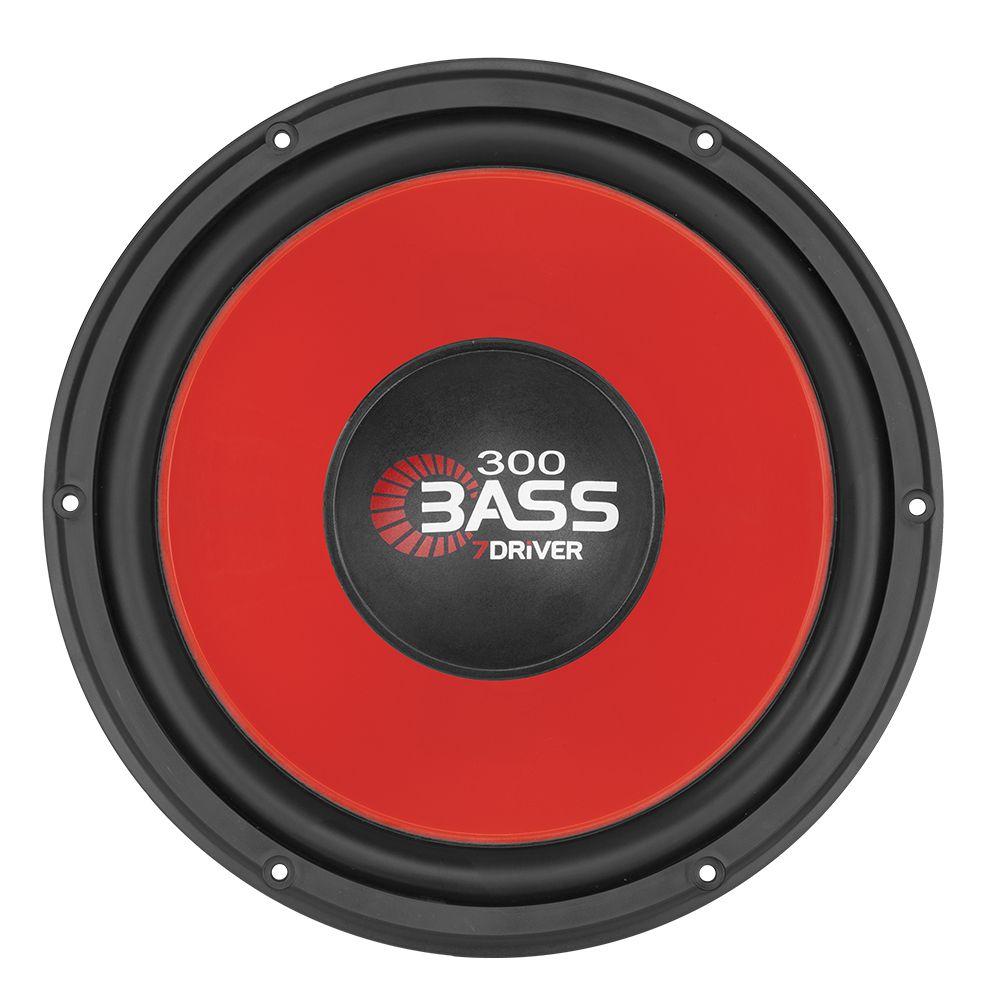 Alto-Falante-Woofer-7-Driver-Taramps-12-Pol.-Bass-300-4-Ohms--Vermelho-Cinza-
