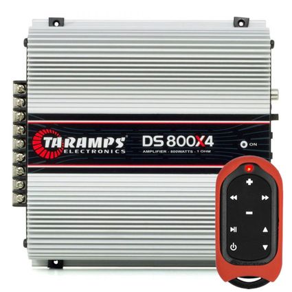 Modulo-Amplificador-Taramps-Ds-800x4---Controle-De-Longa-Distancia-Tlc-3000