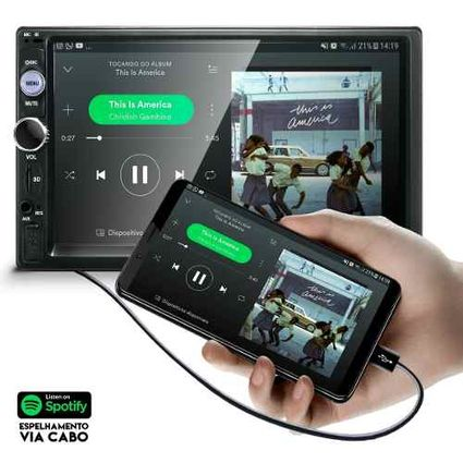 Central-Multimidia-Mp5-Gran-Siena-Cam-Bluetooth-Espelhamento-Android