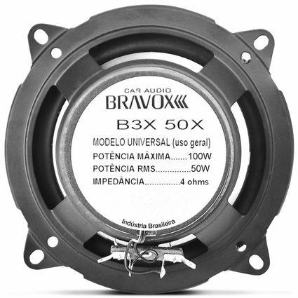 Par-Alto-Falante-Triaxial-Bravox-5-Polegadas-B3x50x-100w-Rms